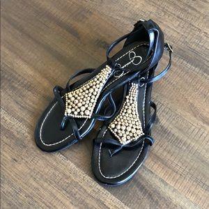 Jessica Simpson black sandal heels